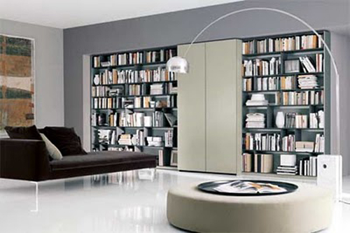 Modern Personal Library & Personal Library Interior Design   Home Decorating Tips