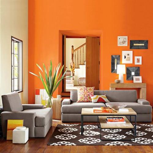 Orange Shabby Chic Interior Design