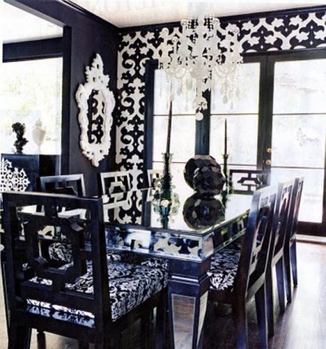 Classic Black Dining Room Decoration