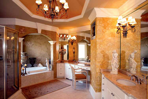 Master Bathroom Suite Design For Luxury Feeling Home Decorating Tips