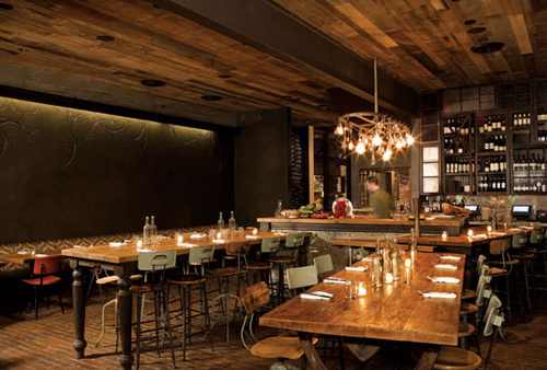 Rustic restaurant design home decorating tips