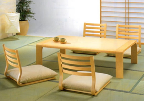 antique Low Japanese Dining Furniture