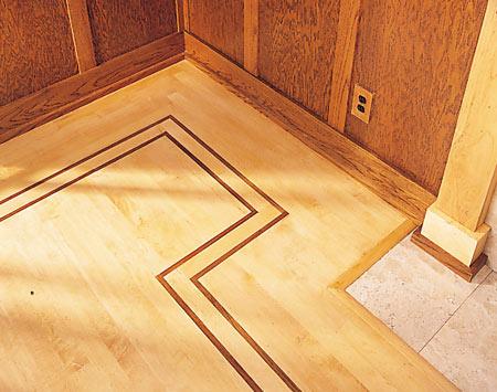 Hardwood Floors in Simple Pattern