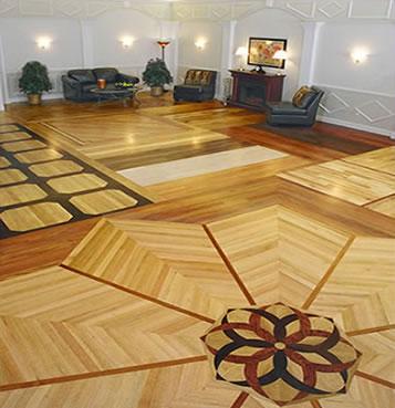 Hardwood Floors in Unique Pattern