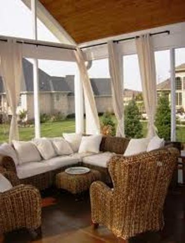 Home improvement arranging furniture in slanted ceiling home decorating tips - Screened porch furniture ideas ...