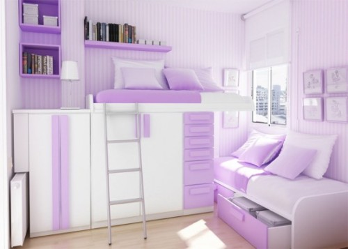 bedroom ideas for a small room in purple. Bedroom Ideas For A Small Room In Easy Design   Home Decorating Tips