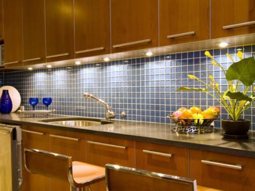 kitchen ideas backsplash in blue