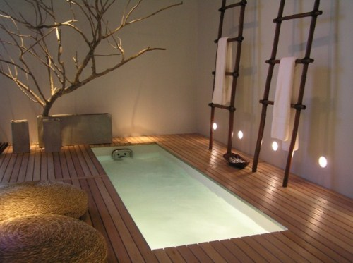 how to design a zen bathroom area