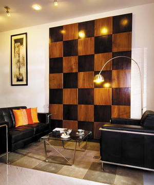 Tips for Your Living Room Decoration: Chessboard Panel