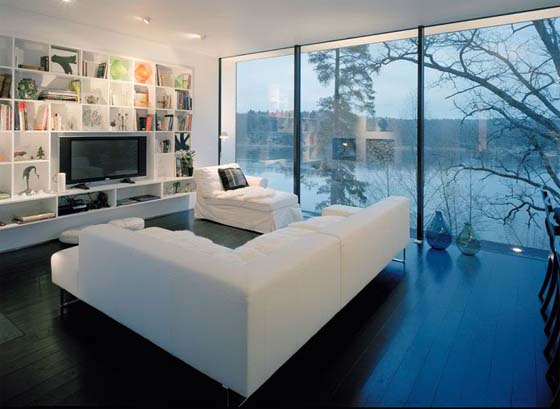 Living room glass wall