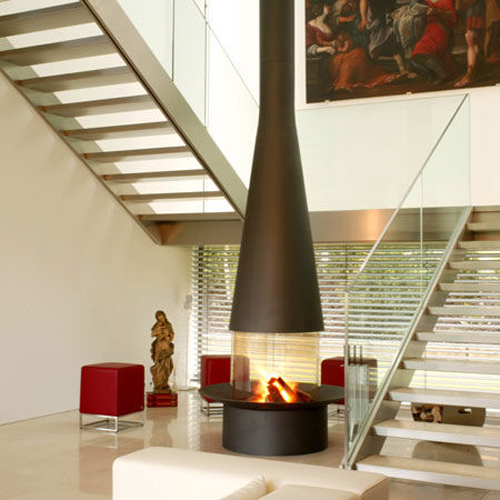 Free Standing Type of Fireplace