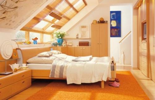 Furniture in Slanted Ceiling