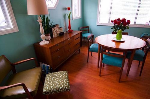 Nice Teal Living Room