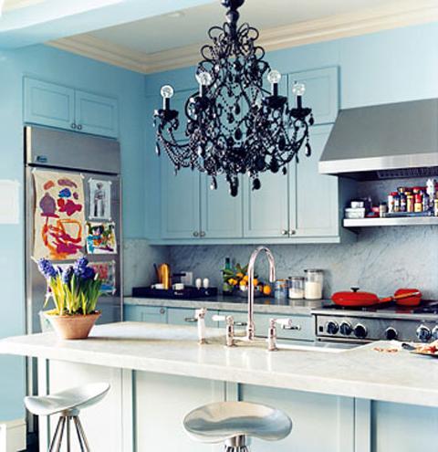 black chandelier design