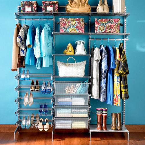 blue closet storage design