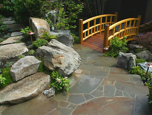 bridge backyard design