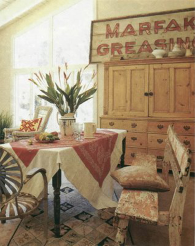 buffet tablecloth dining room