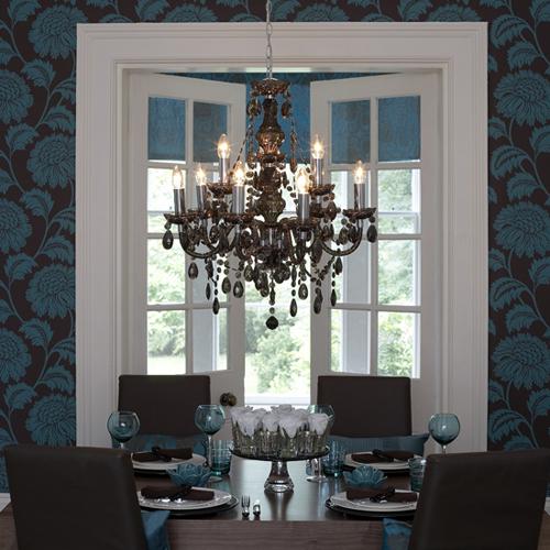 dining room black chandelier