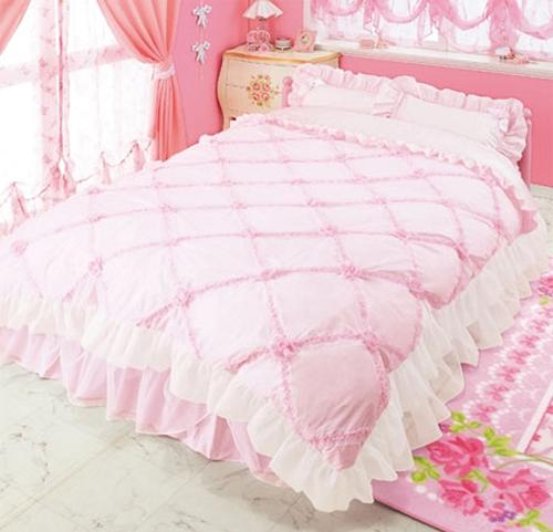 pink bedroom sheet