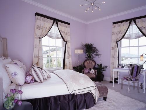 purple girl room