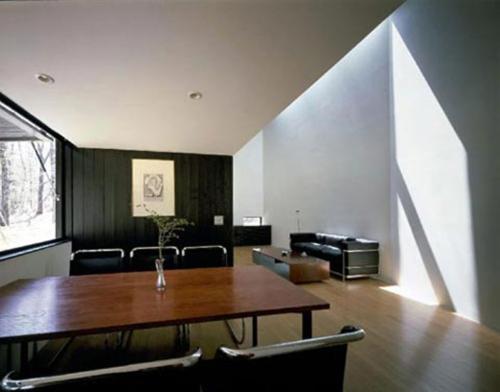 simple Furniture in Slanted Ceiling