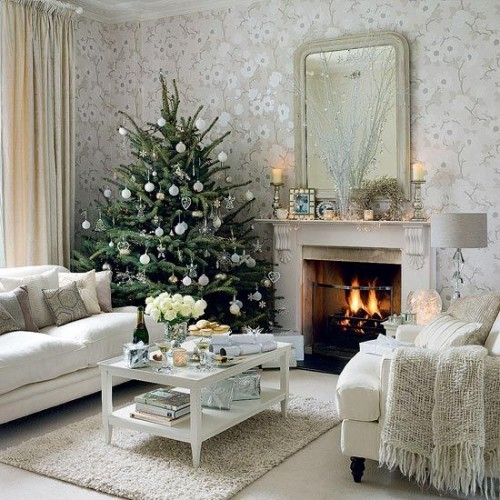 small living room for Christmas