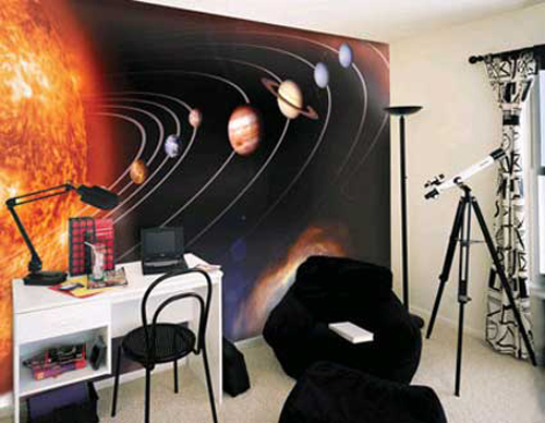 space teen boy bedroom