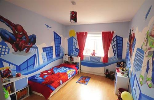 spiderman bedroom inspired movie theme