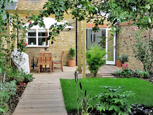 victorian garden at the backyard