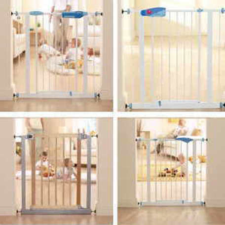 white baby gate