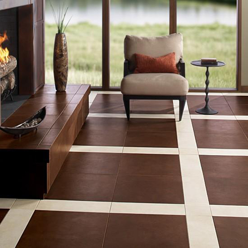 Brown Ceramic Flooring