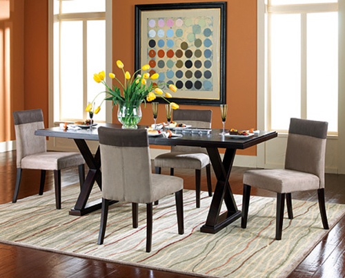 Casual Dining Room Furniture Arrangement