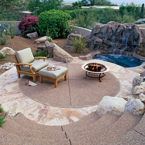 Desert Patio Style in the Garden