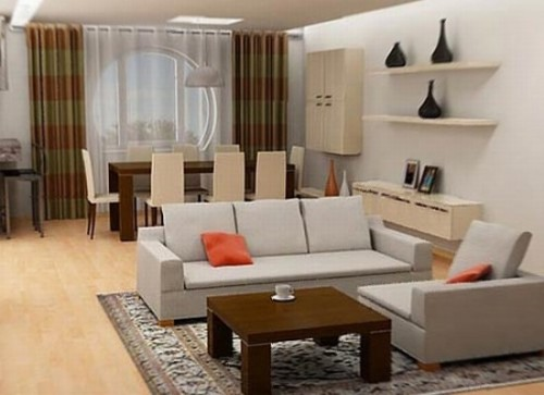L-Shaped Living Room Design