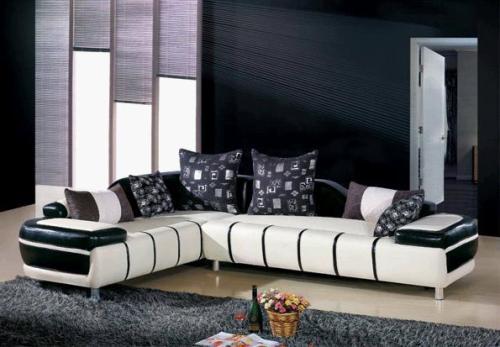 Modern Living Room with Dark Furniture