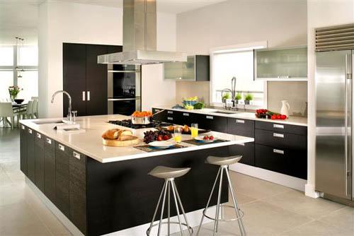 Monochromatic European Kitchen Design