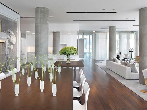 Nice Columns in Living Room