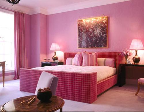 Pink Bedroom Interior Design for Women