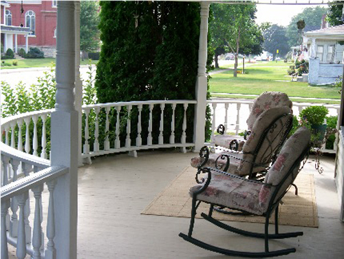 Porch in Victorian Home Exterior Design
