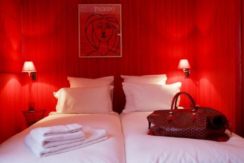 Raspberry Bedroom Design