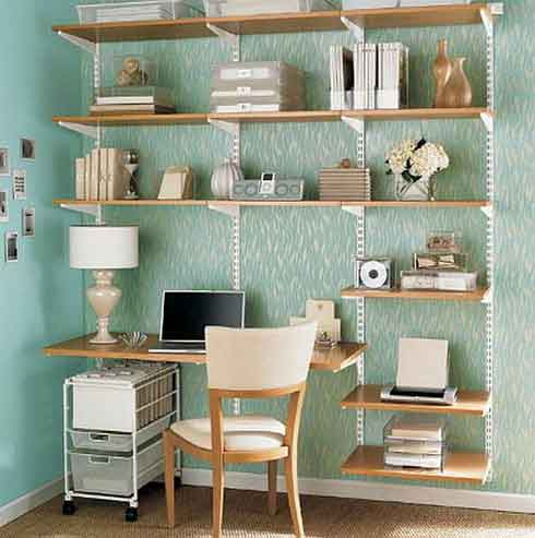 Small Space Shelving at Home