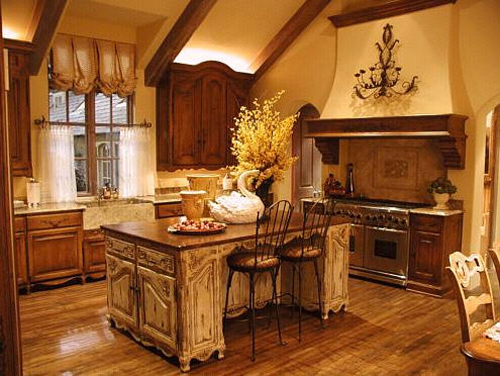 Traditional French Provincial Kitchen