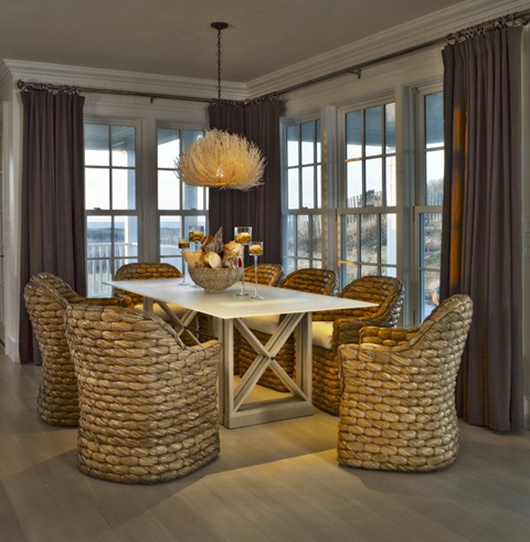 casual dining room with english decor