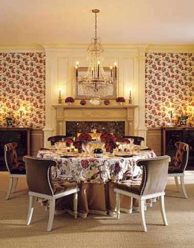 dining room with english decor