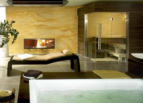 sauna ideas of luxury bathroom