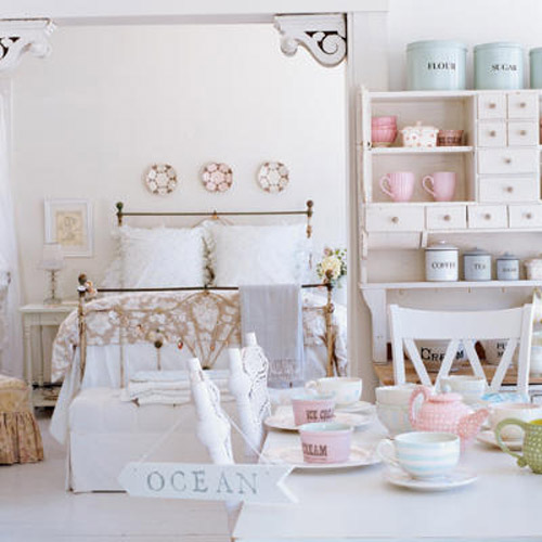 shabby chic decoration for bedroom