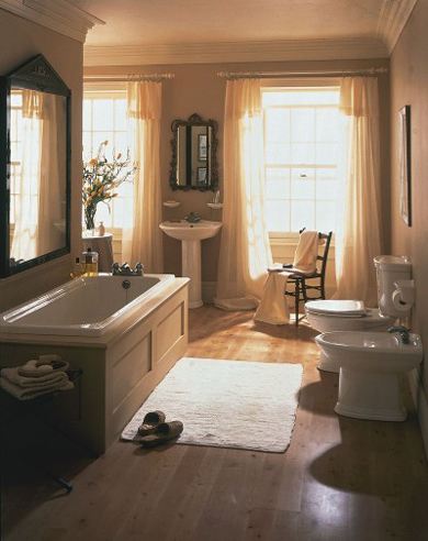 simple European bathroom