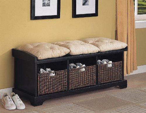 Black Storage Basket Decoration