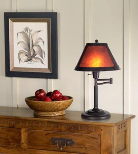 Lamp in Adirondack Style
