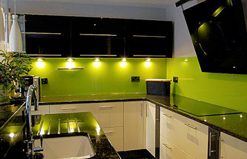 Lime Green Interior Design for kitchen